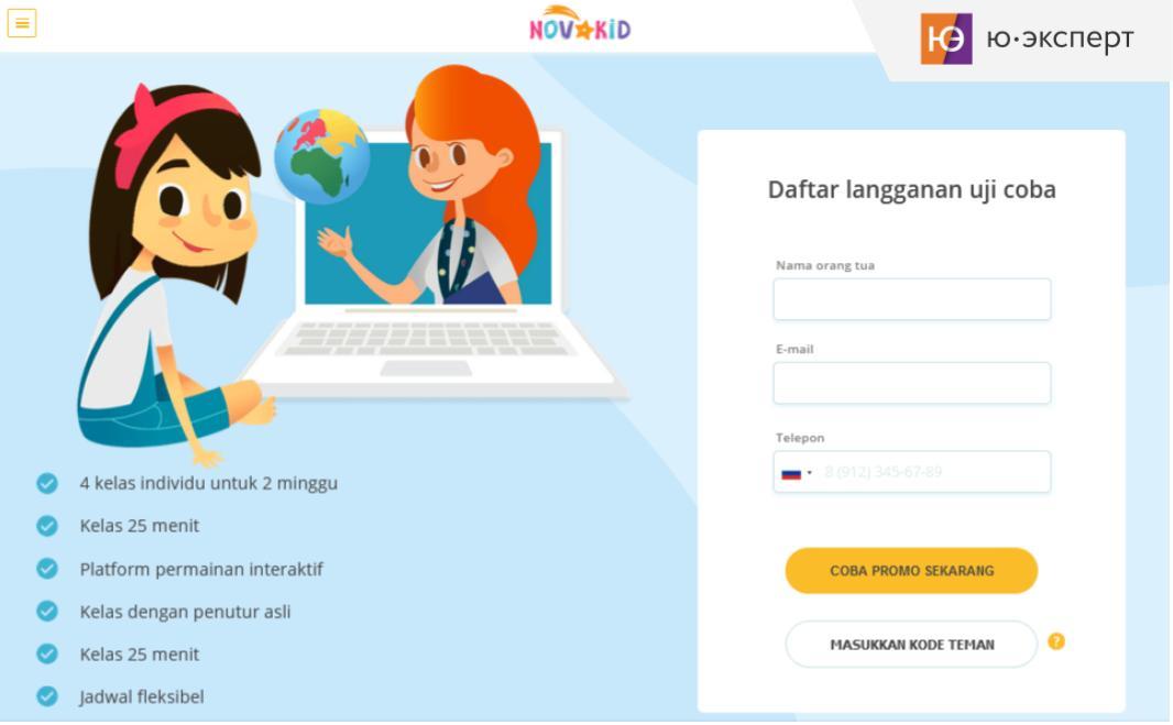 Юзабилити-экспертиза сайта NovaKid в Индонезии